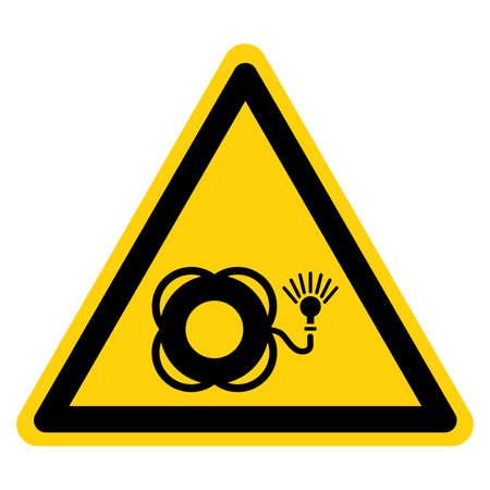 Lifebuoy With Light Symbol Sign, Vector Illustration, Isolate On White Background Label.