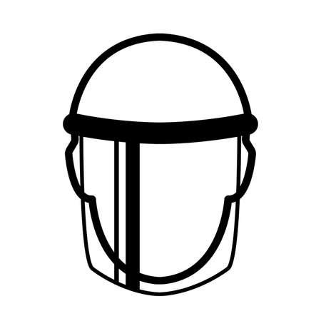 Face Shield Black Icon ,Vector Illustration, Isolate On White Background Label. Illusztráció