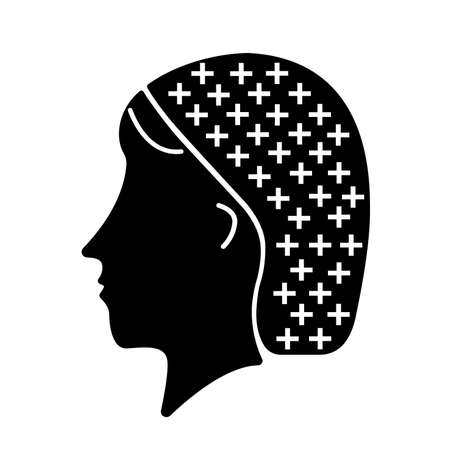 Hair Net Black Icon ,Vector Illustration, Isolate On White Background Label.