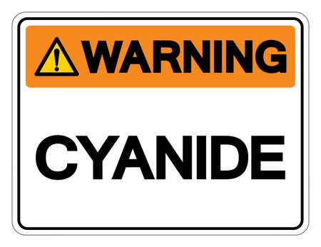 Warning Cyanide Symbol Sign, Vector Illustration, Isolated On White Background Label .