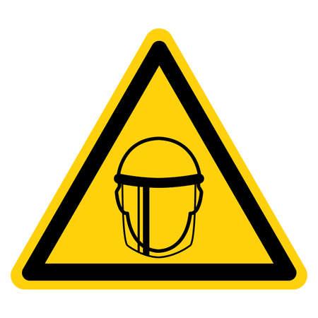 Face Shield Symbol Sign ,Vector Illustration, Isolate On White Background Label. Illusztráció