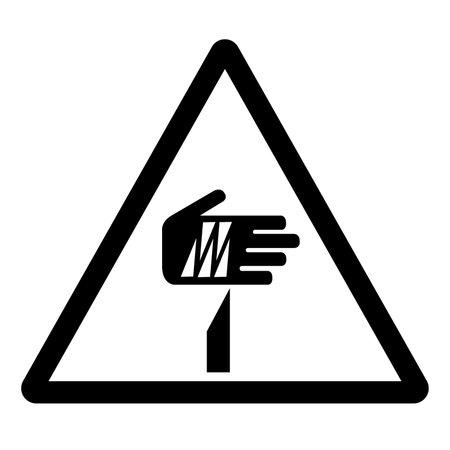 Sharp Point Symbol Sign, Vector Illustration, Isolate On White Background Label . Illusztráció