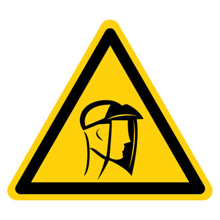 Face Shield Required  Symbol Sign ,Vector Illustration, Isolate On White Background Label. Illusztráció