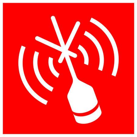Emergency Position Indicating Radiobeacon Symbol Sign, Vector Illustration, Isolate On White Background Label. EPS10
