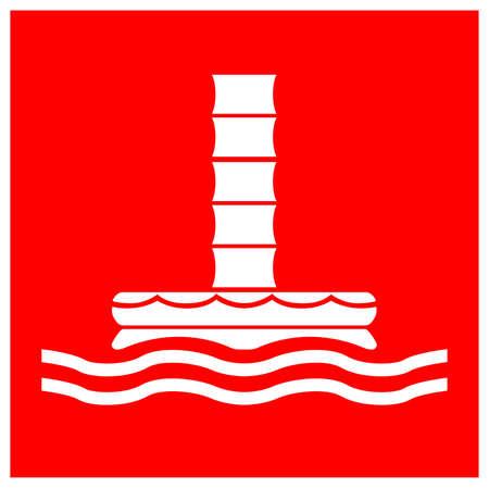 Marine Evacuation Chute Symbol Sign, Vector Illustration, Isolate On White Background Label. EPS10 Illusztráció