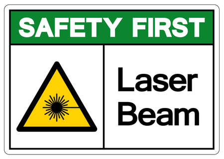 Safety First Laser Beam Symbol,Vector Illustration, Isolate On White Background Label. EPS10