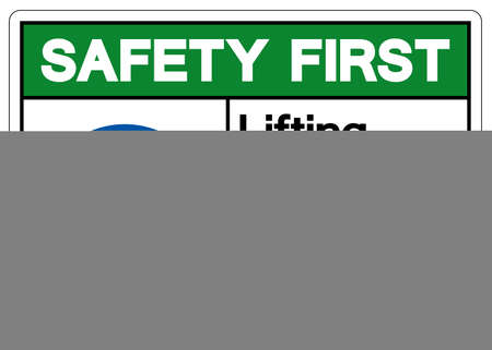 Safety First Lifting Hazard Do Not Lift or Move Heavy Objects Without Mechanical Lift Assistance Symbol Sign,Vector Illustration, Isolated On White Background Label. EPS10 Illusztráció