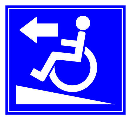 Ramp For The Disabled Symbol Sign, Vector Illustration, Isolate On White Background Label. EPS10