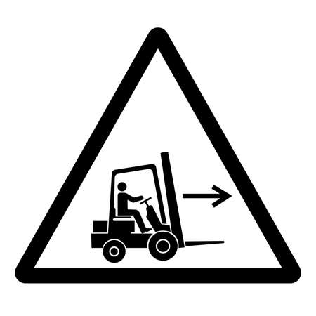 Forklift Point Right Symbol Sign, Vector Illustration, Isolate On White Background Label .EPS10 Illusztráció