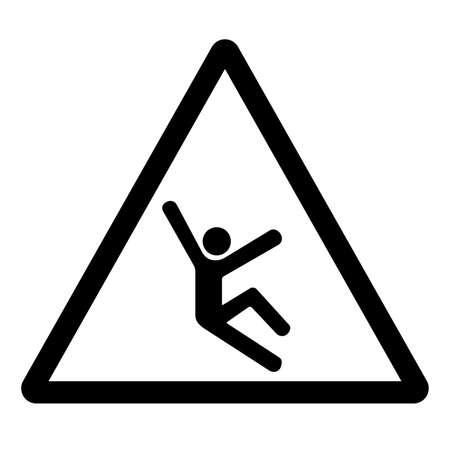 Climb Hazard Symbol Sign, Vector Illustration, Isolate On White Background Label .EPS10 Illusztráció