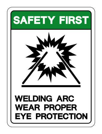 Danger Welding ARC Symbol Sign ,Vector Illustration, Isolate On White Background Label. EPS10