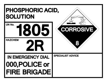 hosphoric Acid Solution UN1805 Symbol Sign, Vector Illustration, Isolate On White Background Label. EPS10