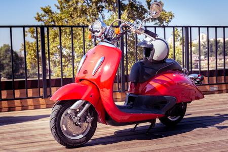 Red vintage sprint scooter oldschool