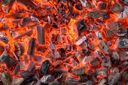 Background of the hot charcoal texture Stock Photo