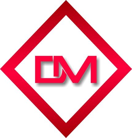 Handwritten logo of two letters Logo