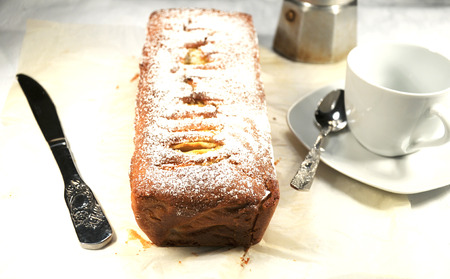 Plumcake with apples photo