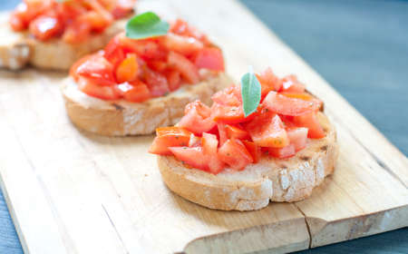 Tomato Bruschetta with oil photo