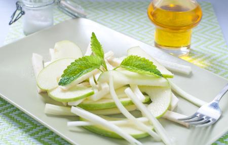 dinne: Fresh green salad and celeriac celery and green apple