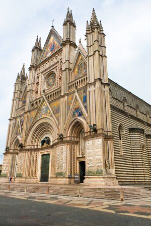 orvieto: View of the cathedral of Orvieto Umbria Italy