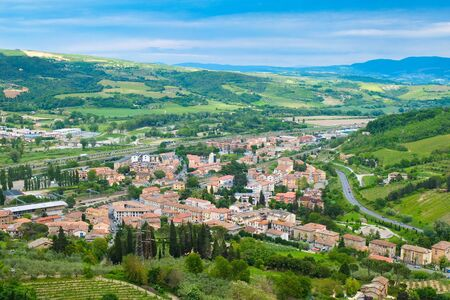 orvieto: Panoramic landscape near the town of Orvieto Umbria Italy Stock Photo