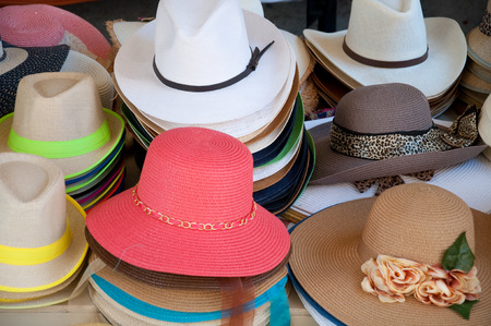 liczne: Different types and models of hats numerous colors