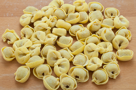 lambrusco: Italian ravioli stuffed with meat cooked in broth with cheese