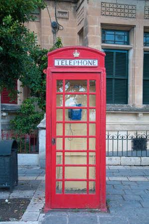 payphone: Red telephone box mold English Stock Photo
