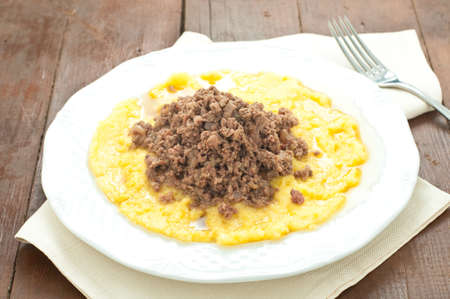 italian dish: bruscitt and polenta italian dish that you do in winter,italy
