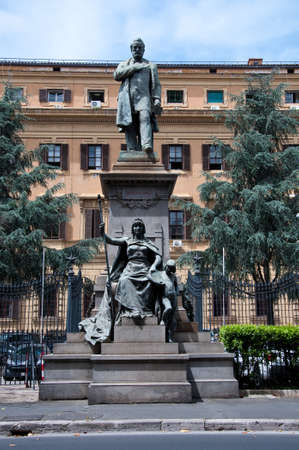dedicated: Statue dedicated to Quintino Sella political Italian Renaissance,italy Stock Photo