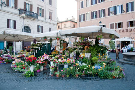 23 may 2015-rome-italy-Stand of flowers in the Campo di marte in Rome,italy Editorial