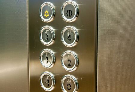 5 door: push button inside the lift,italy