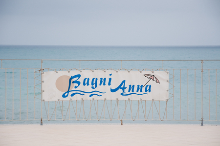 nags: 2 may 2015-savona-italy-savona beach with views of the beach establishments,italy