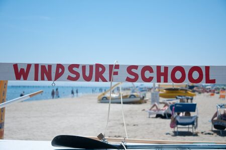 presence: colored text that indicates the presence of a windsurfing school Editorial
