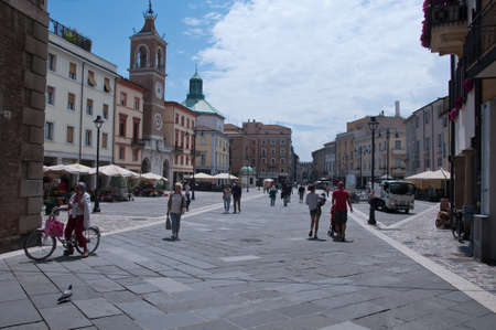 martiri: 10 june 2016-rimini-italy- Tre Martiri square in rimini in the Emilia Romagna region,italy