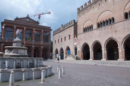 cavour: 10 june 2016-rimini-italy- Cavour square in rimini in the Emilia Romagna region,italy
