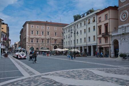martiri: 10 june 2016-rimini-italy-Tre Martiri square in rimini in the Emilia Romagna region,italy