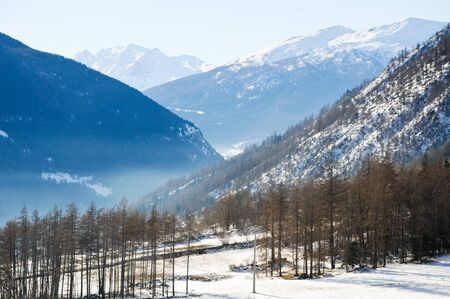 luge: the beautiful mountains around bionaz in Valle dAosta