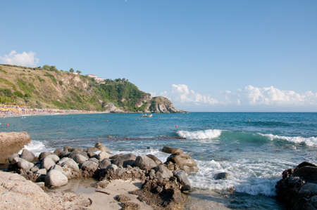 the beautiful beach of  grotticelle  at capo  Vaticano in Calabria,italy Stock Photo