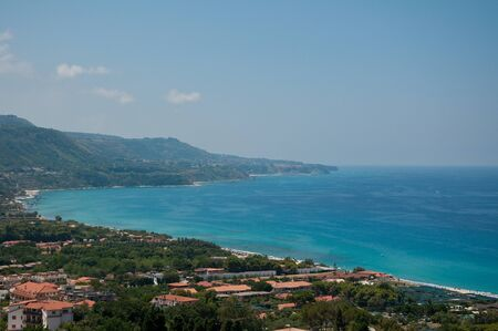 zambrone the beautiful panorama with the background the town of Tropea