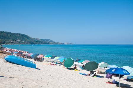 30 july 2016-zambrone-italy-the beautiful beach zambrone a small town in Calabria