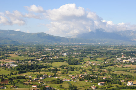 the beautiful scenery between marche and Abruzzo in Italy Stock Photo
