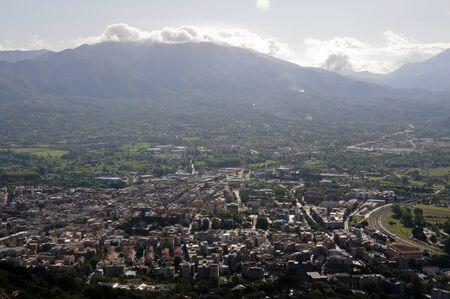 abbazia: view of the city of Cassino