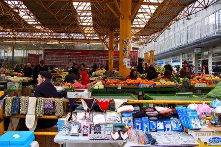 23 may 2009-sarajevo-bosnia- Market on the street of Sarajevo, bosnia Editorial