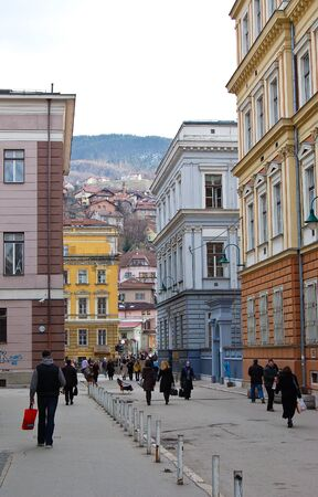 23 may 2009-sarajevo-bosnia-Life on the street of Sarajevo, bosnia Editorial