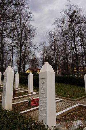 24 may 2009-sarajevo-bosnia-war graves in a garden in sarajevo,bosnia