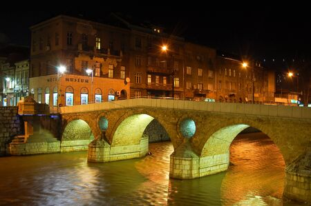 27 may 2009-sarajevo-bosnia-bridges on the river of sarajevo,bosnia Editorial
