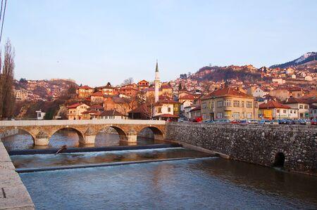 23 may 2009-sarajevo-bosnia-bridges over the river  of Sarajevo, bosniabosnia Stock Photo