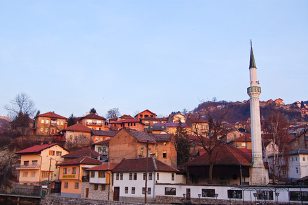 23 may 2009-sarajevo-bosnia-view of the roofs in the old district of saraievo,bosnia Stock Photo