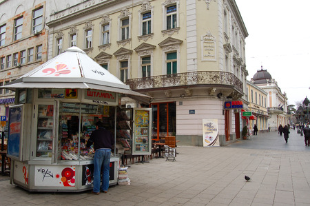 21 march 2009-belgrado-serbia-The main street in the city of belgrade in serbia Editorial