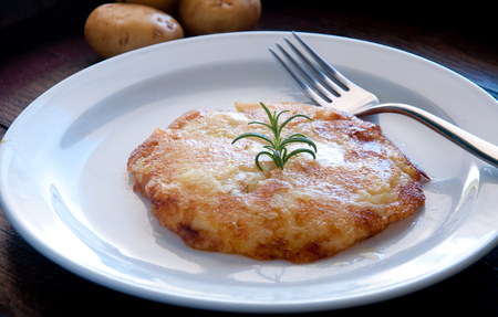 Frico typical Friulian dish based on potatoes and cheese,italy